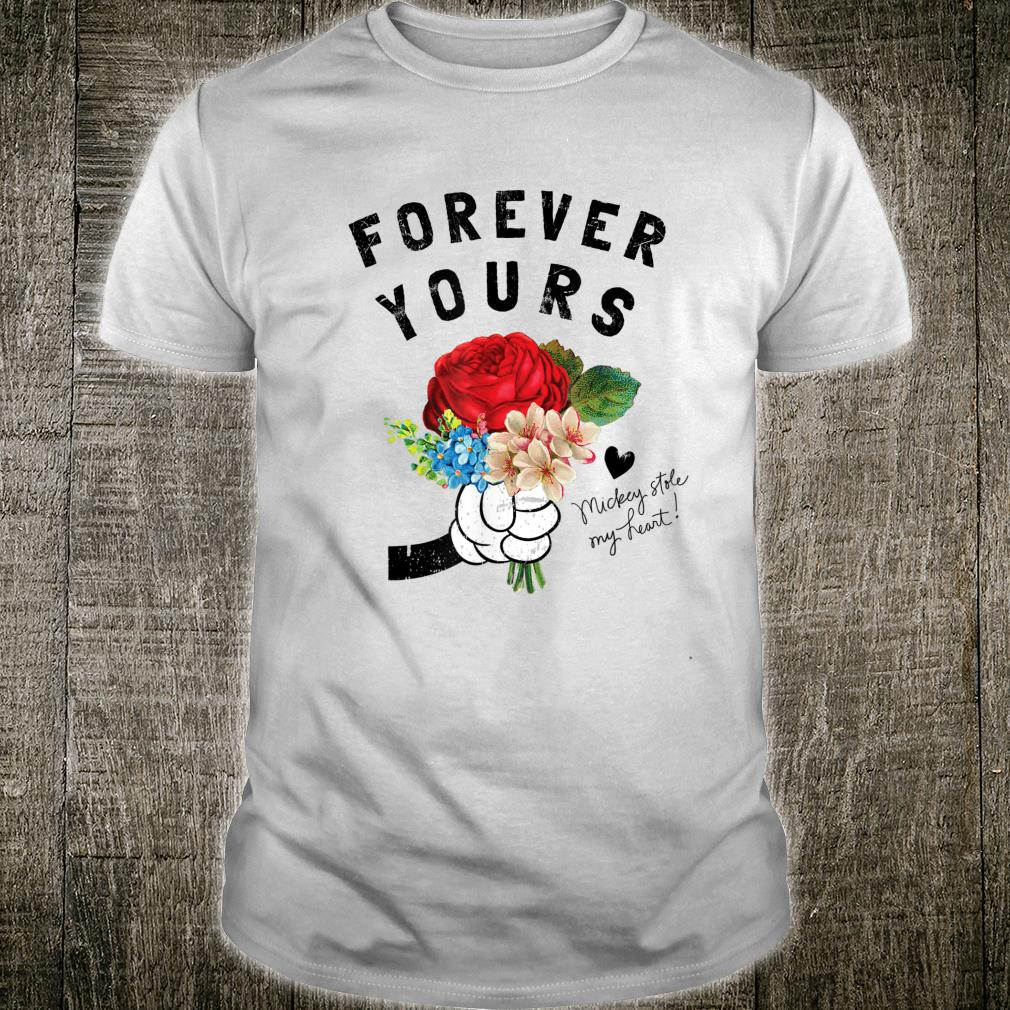 Disney Mickey Mouse Forever Yours Flowers Shirt