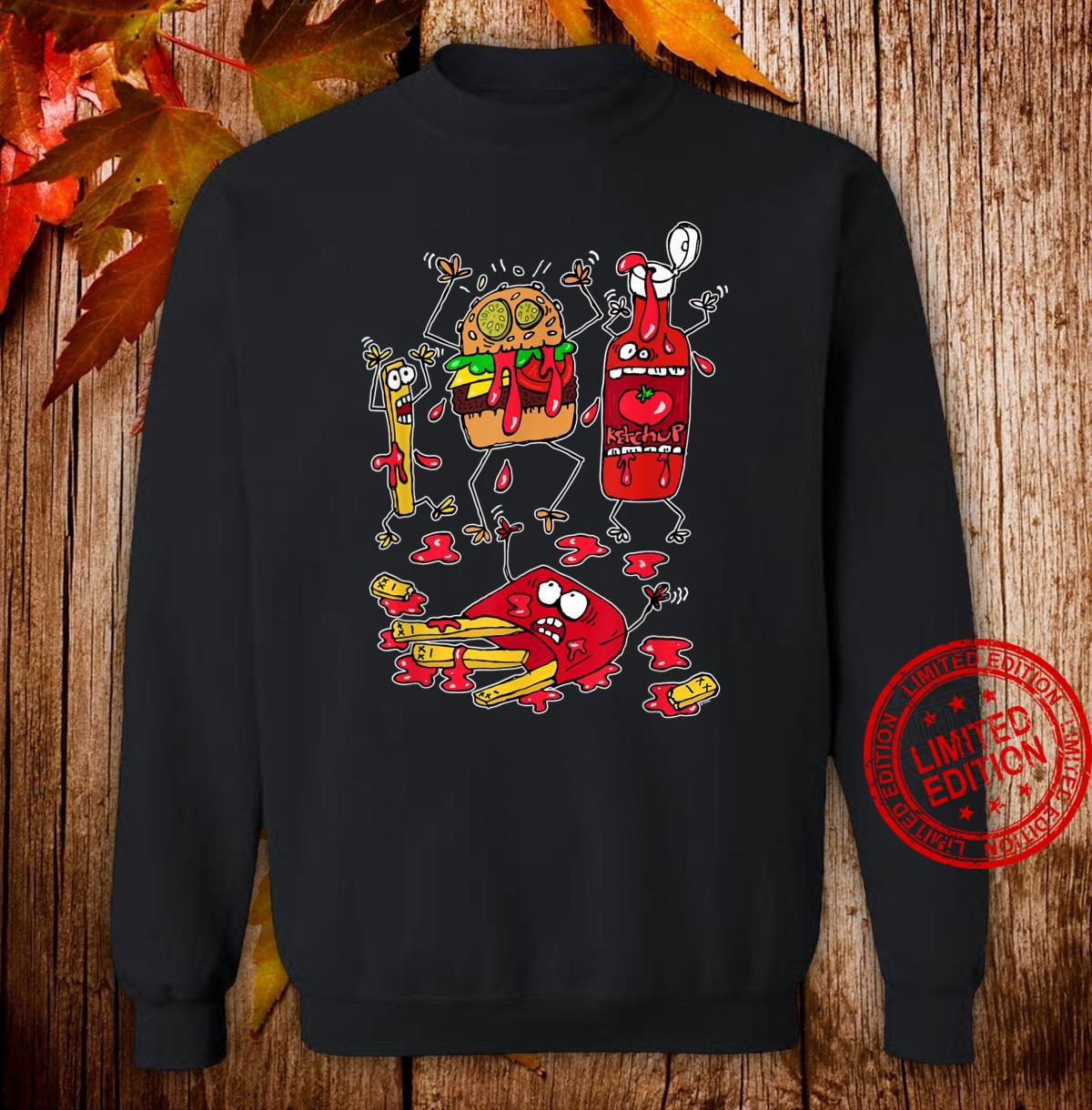 Don't Worry, it's Just Ketchup Crazy Food Fight Shirt sweater