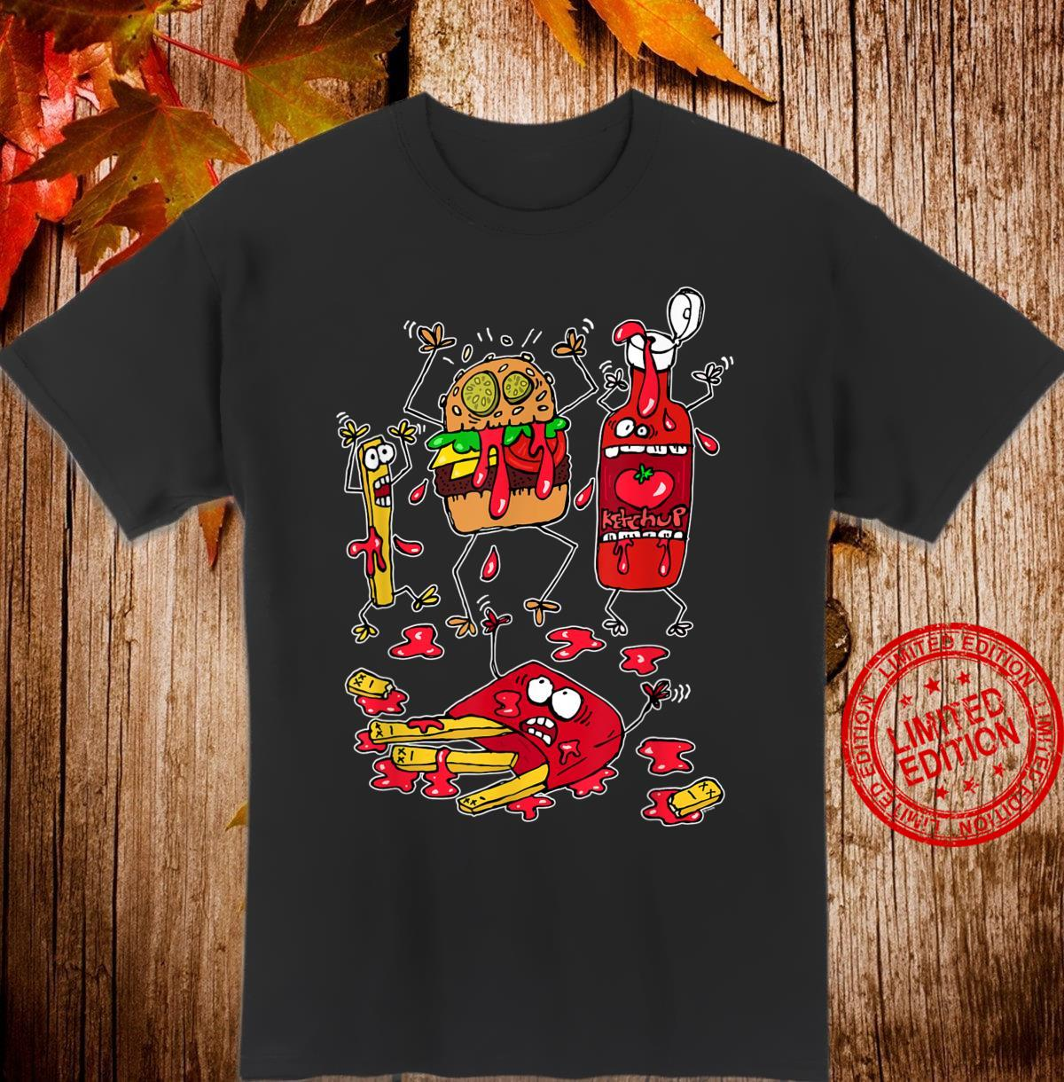 Don't Worry, it's Just Ketchup Crazy Food Fight Shirt