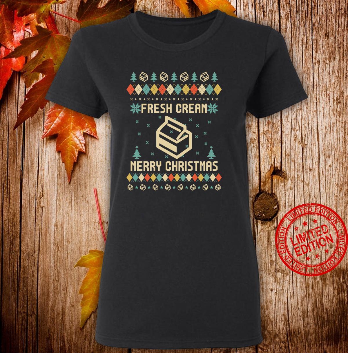 FRESH CREAM Ugly Christmas Vintage Retro Shirt ladies tee