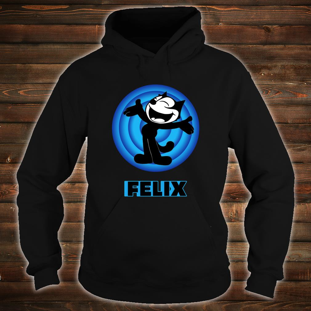 Felix a Cartoon Cat Arms Outstretched Blue Vintage Retro Shirt hoodie