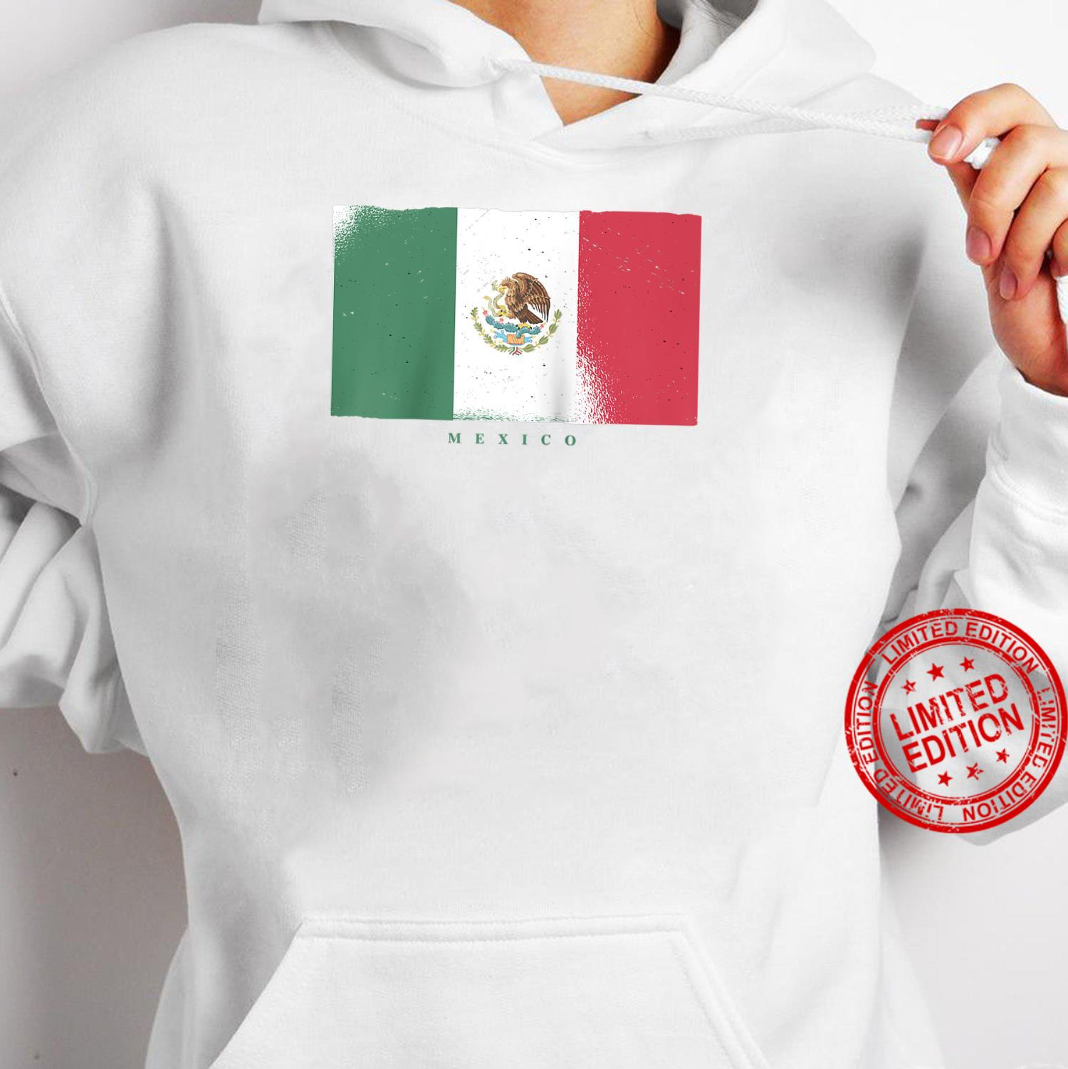 Flag of Mexico Mexican Grunge Distressed Design Shirt hoodie