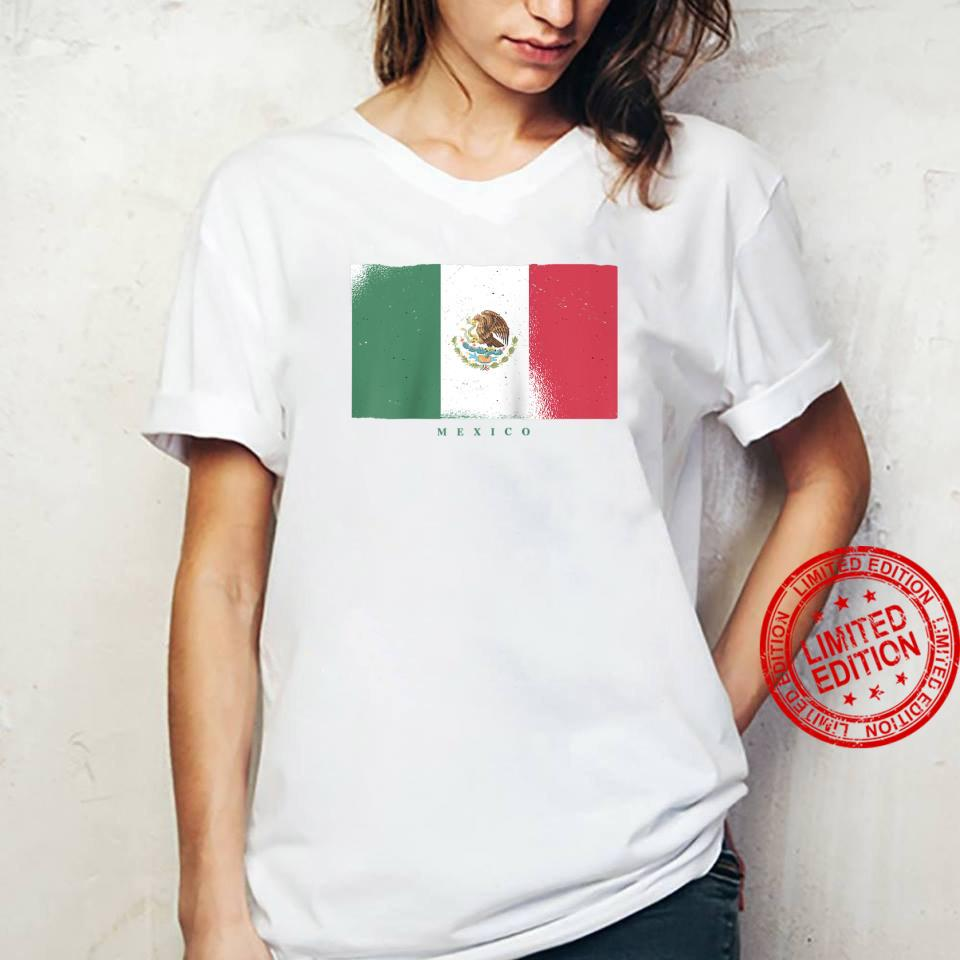 Flag of Mexico Mexican Grunge Distressed Design Shirt ladies tee
