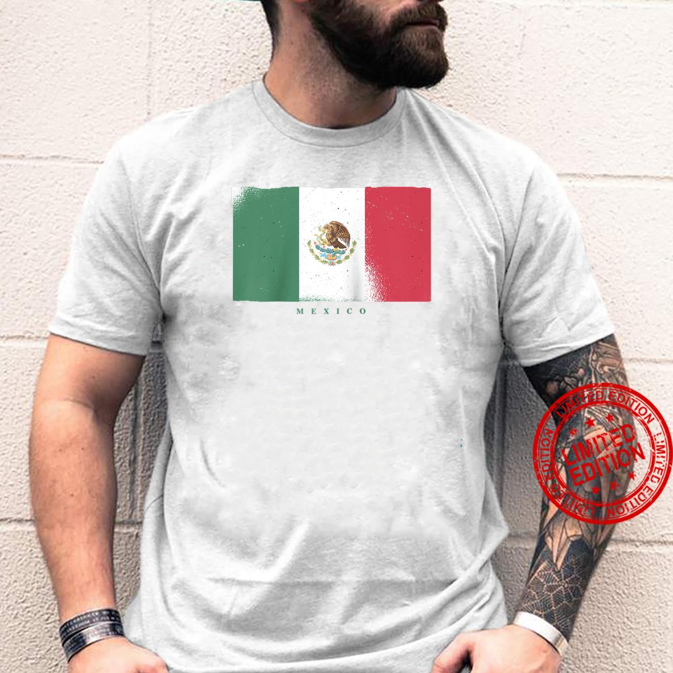 Flag of Mexico Mexican Grunge Distressed Design Shirt