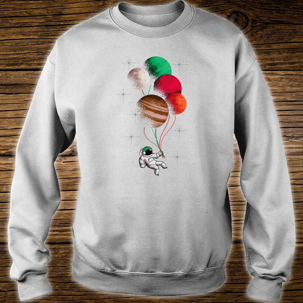 Flying Astronaut Space Theme Planets Shirt sweater
