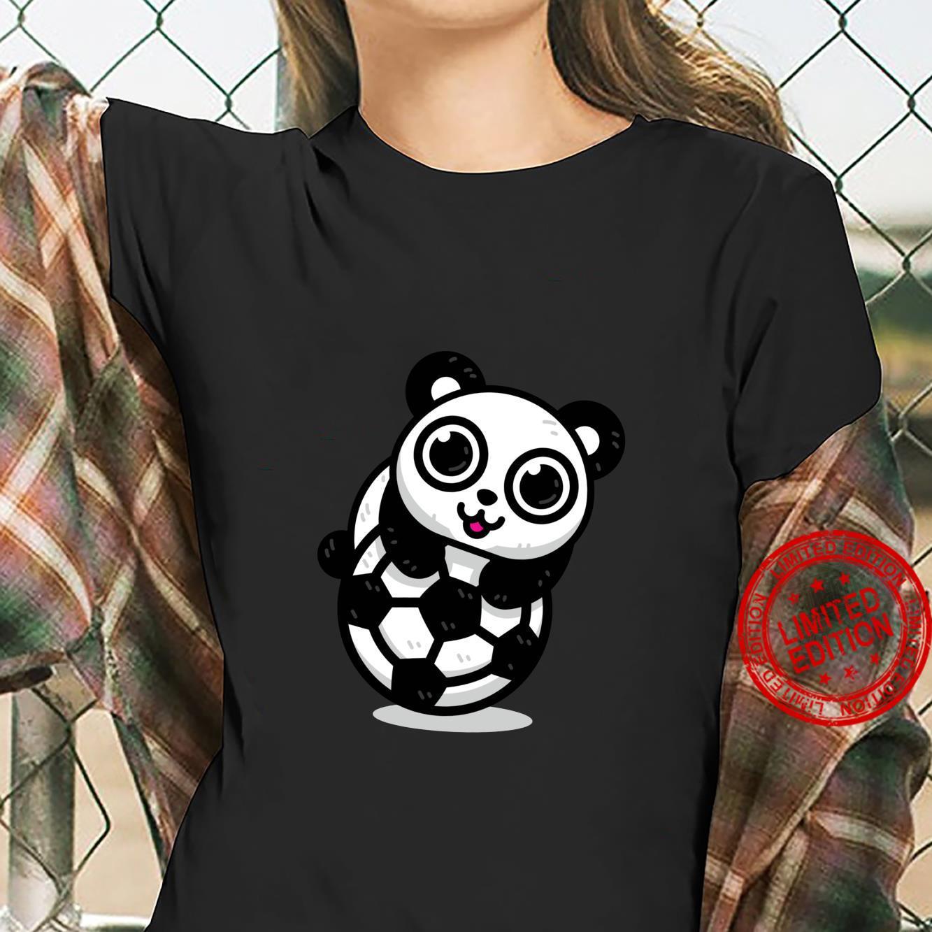 Fußball Panda Shirt ladies tee
