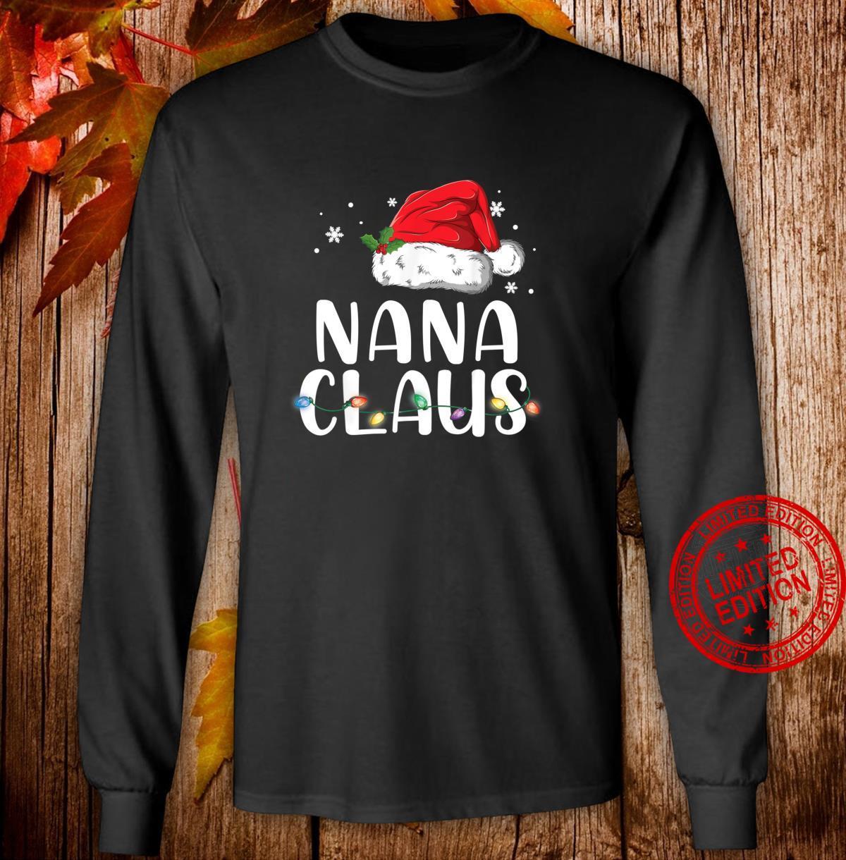 Funny Nana Claus Christmas Pajamas Santa Shirt long sleeved