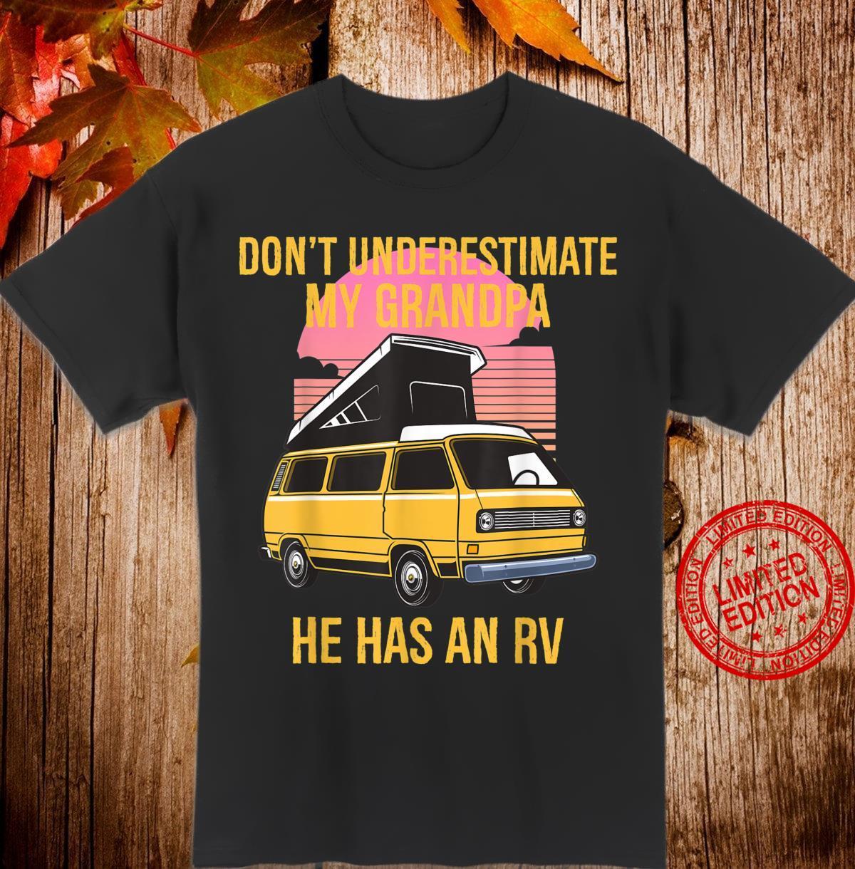 Funny Retro Vintage RV Owner Grandpa Has an RV Shirt