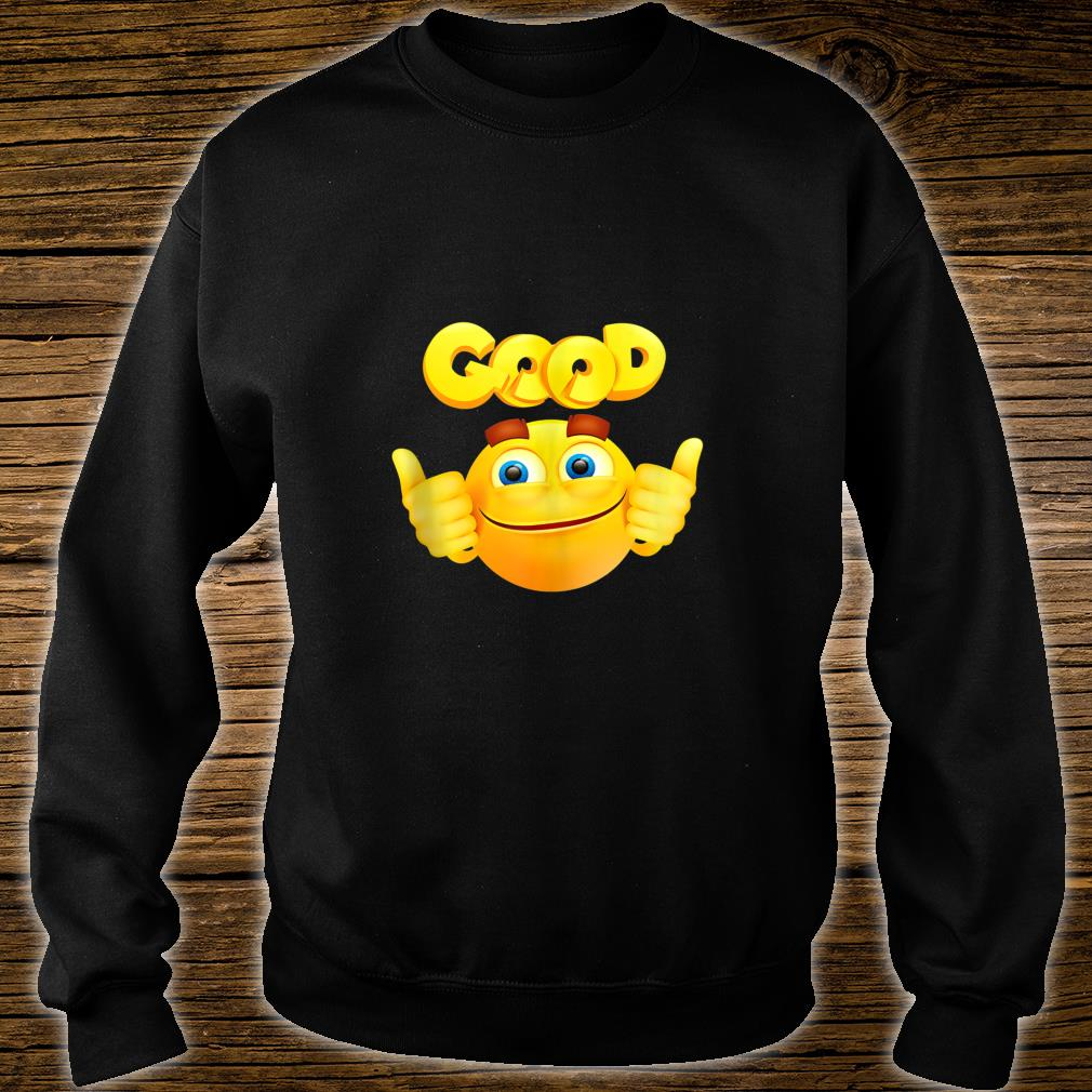Funny good face heart love emojis emoticon happy smile Shirt sweater