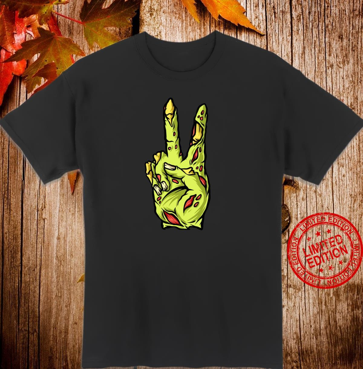 Funny halloween Zombie Peace Costume Trick or Treat Shirt