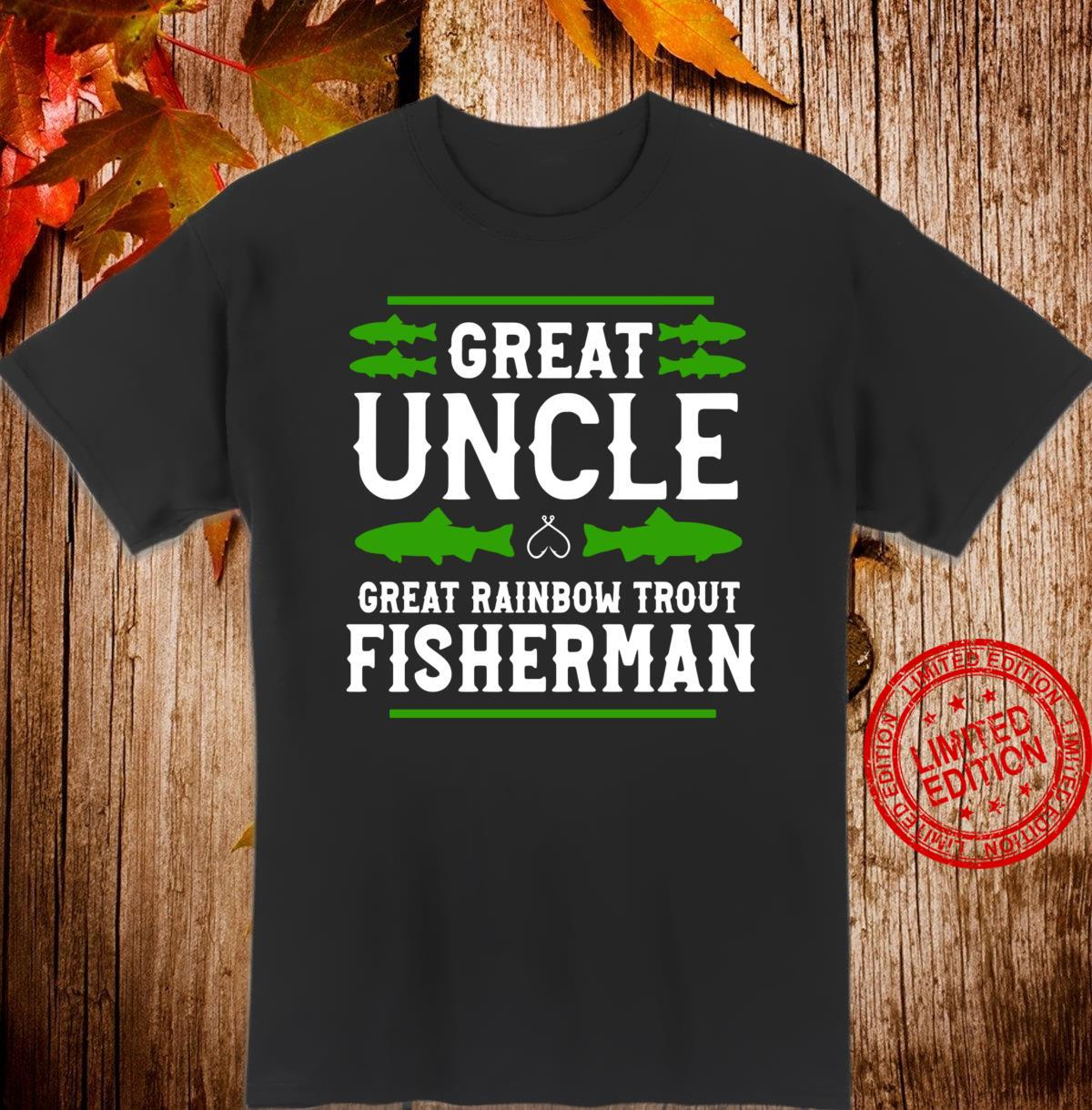 Great Rainbow Trout Fisherman Rainbow Trout Fishing Uncle Shirt