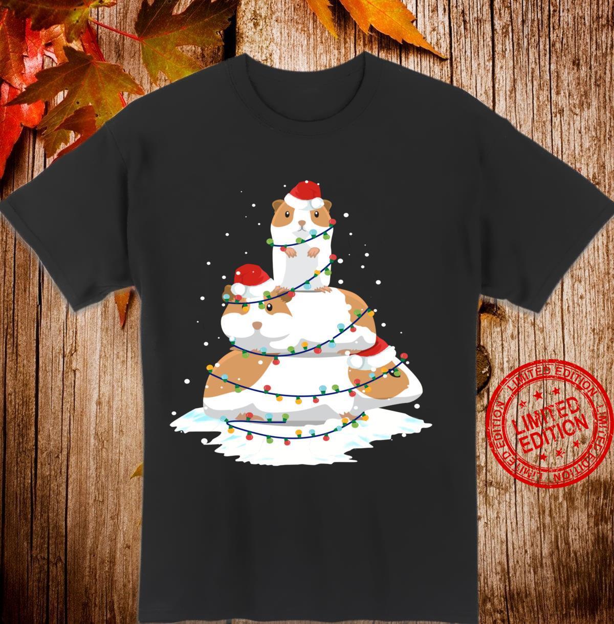 Guinea Pig Santa Christmas Light Tree Shirt