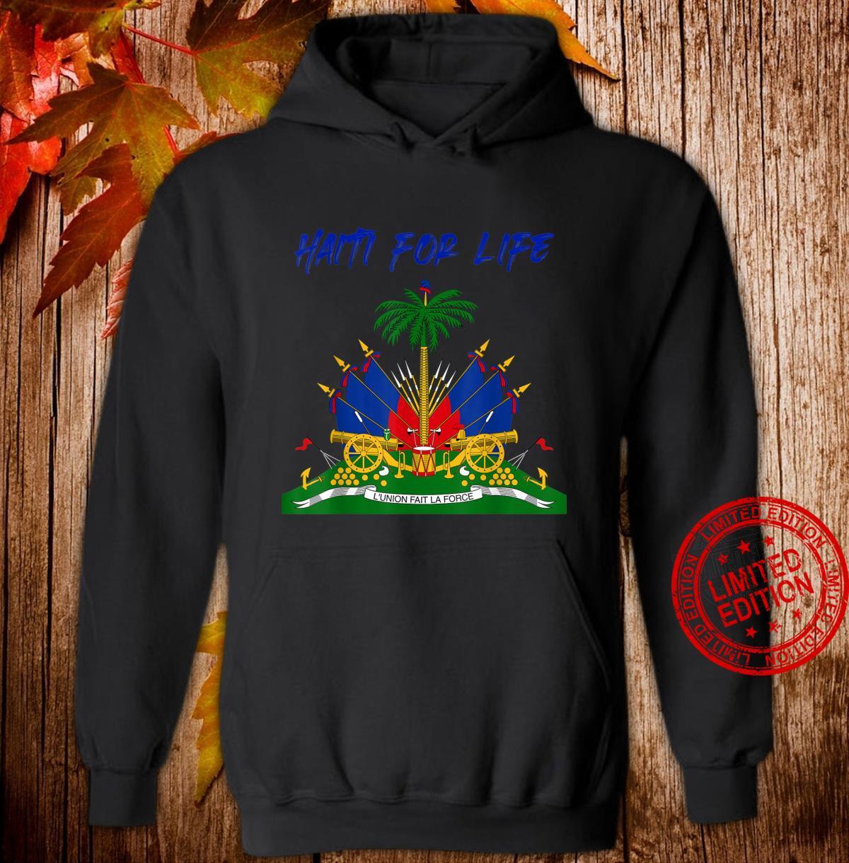 Haiti For Life Haitian Emblem Shirt hoodie