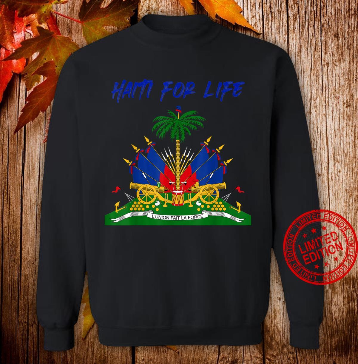 Haiti For Life Haitian Emblem Shirt sweater