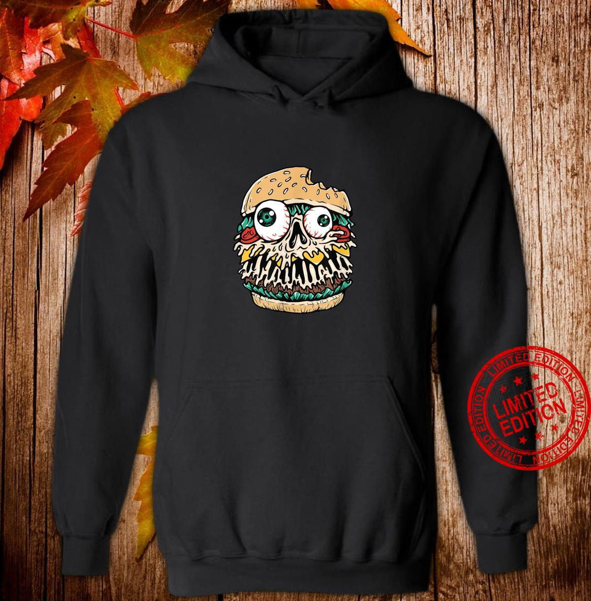 Halloween Scary Monster Food Hamburger Shirt hoodie