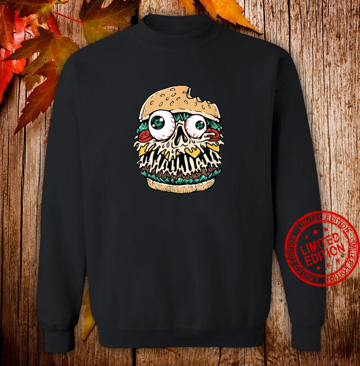 Halloween Scary Monster Food Hamburger Shirt sweater