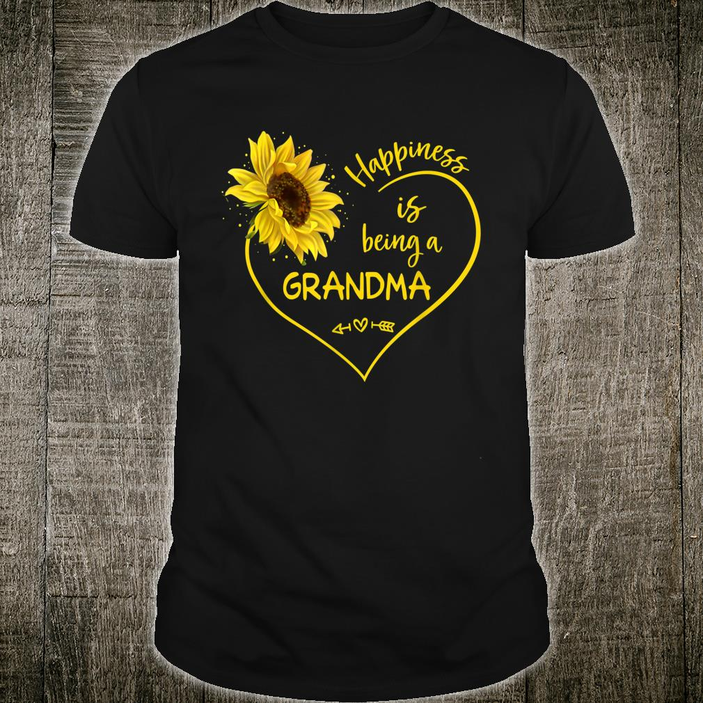 Happiness Is Being A GRANDMA Grandma Sunflower Heart Shirt