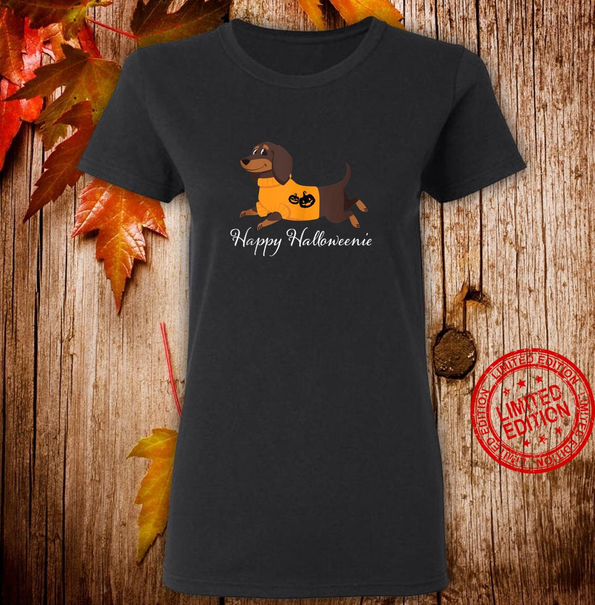 Happy Halloweenie Dachshund Halloween Shirt ladies tee