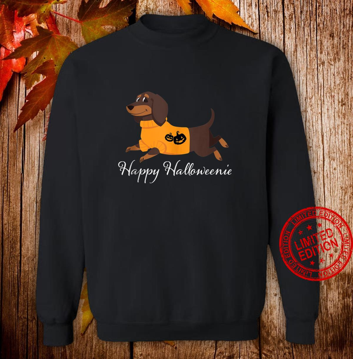 Happy Halloweenie Dachshund Halloween Shirt sweater