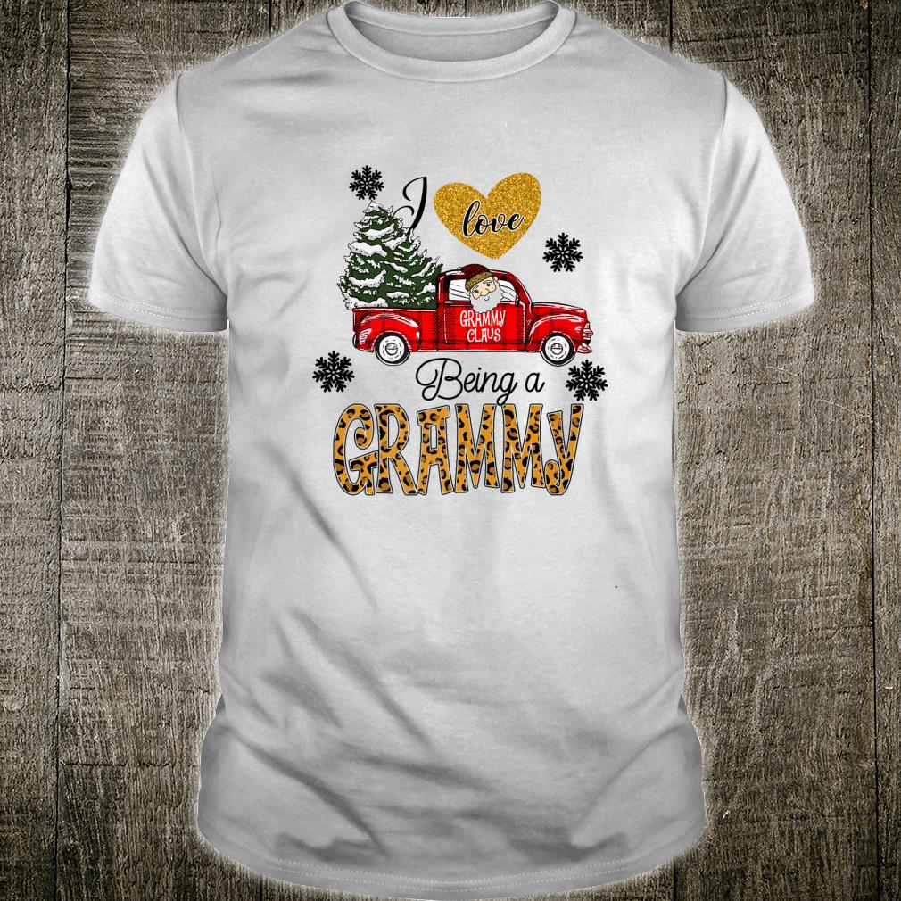I Love Being A Grammy Leopard Car Caro Christmas Shirt