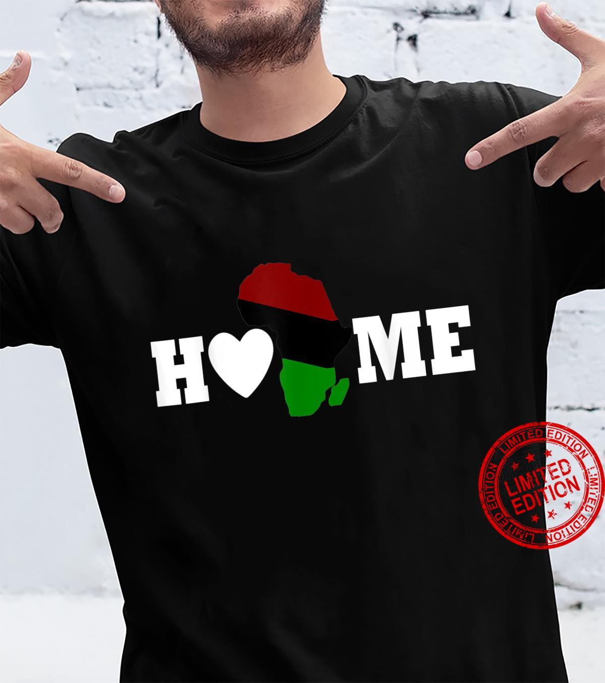 I love Africa Home African Continent Map Flag Shirt