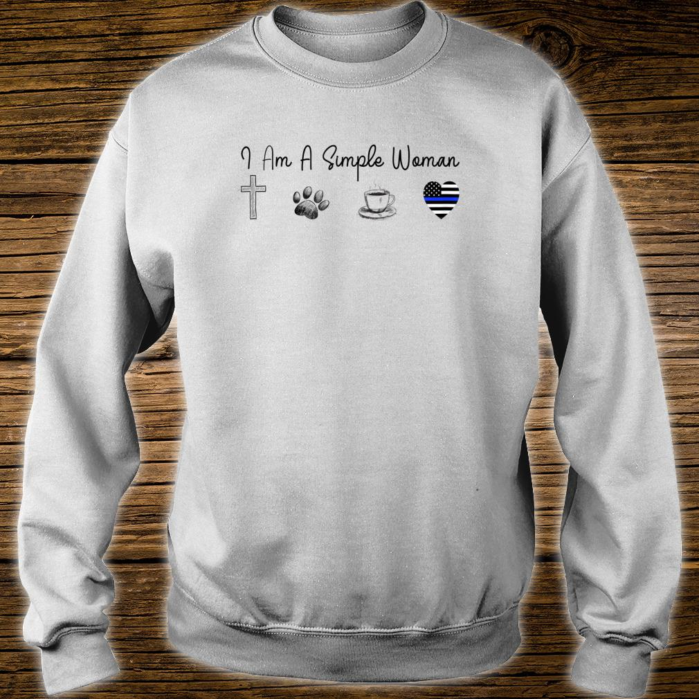 I'm A Simple Woman Love Jesus Dogs Coffee Brave Shirt sweater
