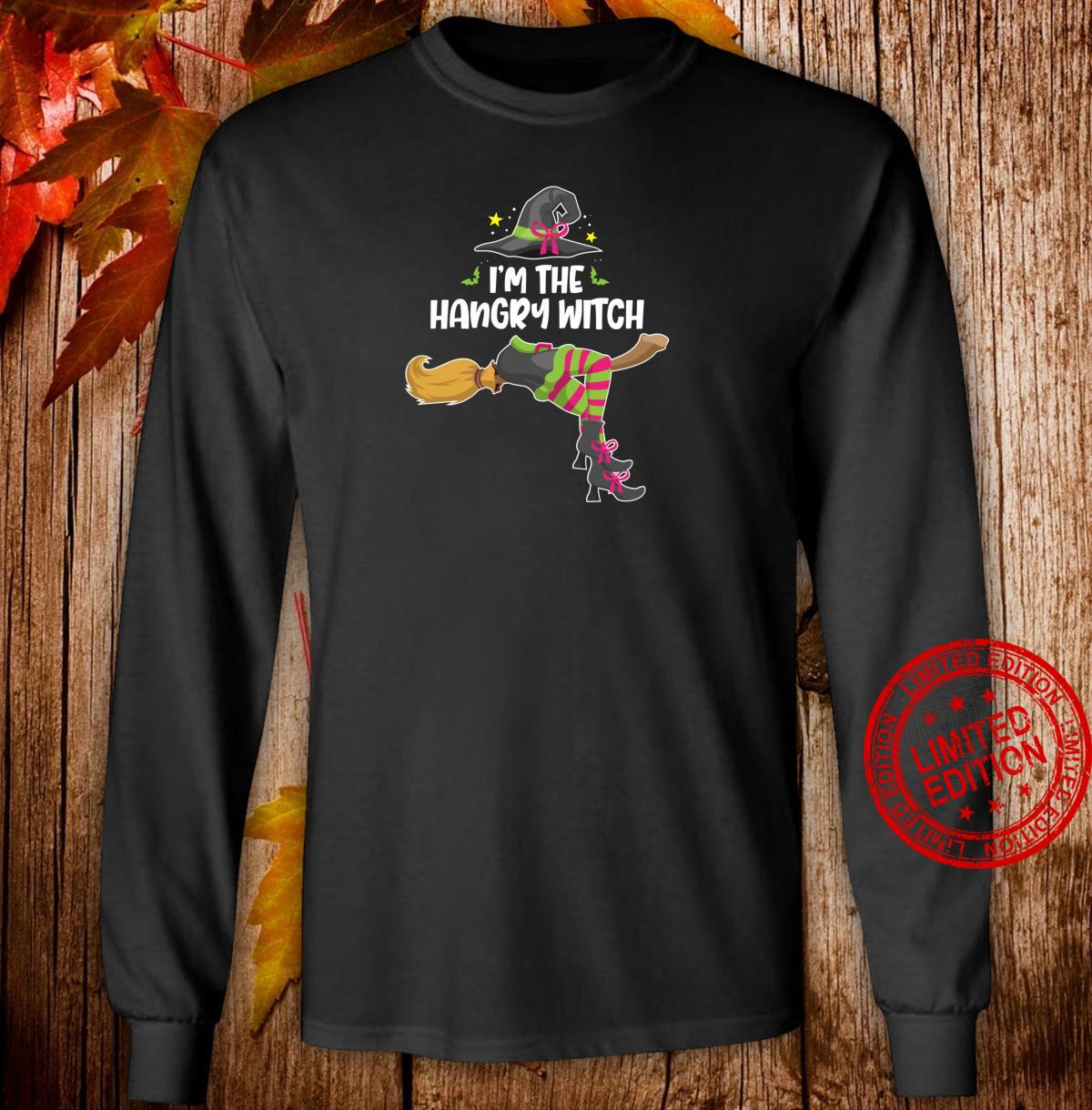 I'm the Hangry Witch Halloween Matching Group Costume Shirt long sleeved