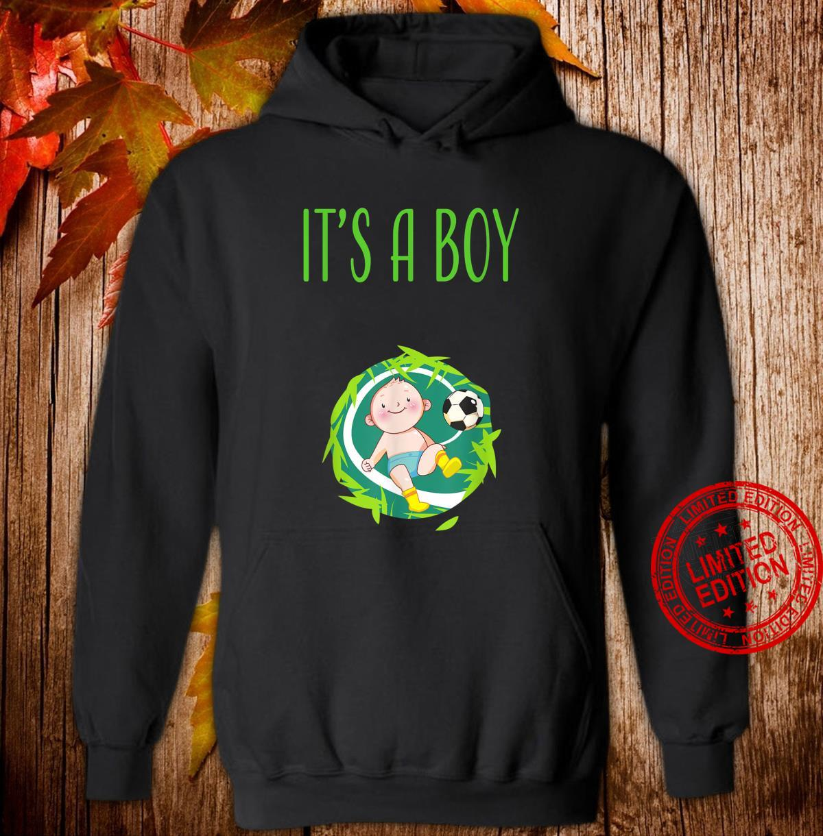 It's a Boy Team Boy Gender Reveal Baby Shower Shirt hoodie