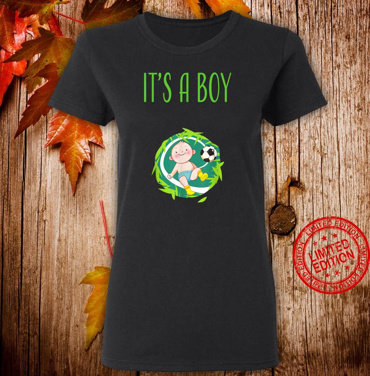 It's a Boy Team Boy Gender Reveal Baby Shower Shirt ladies tee