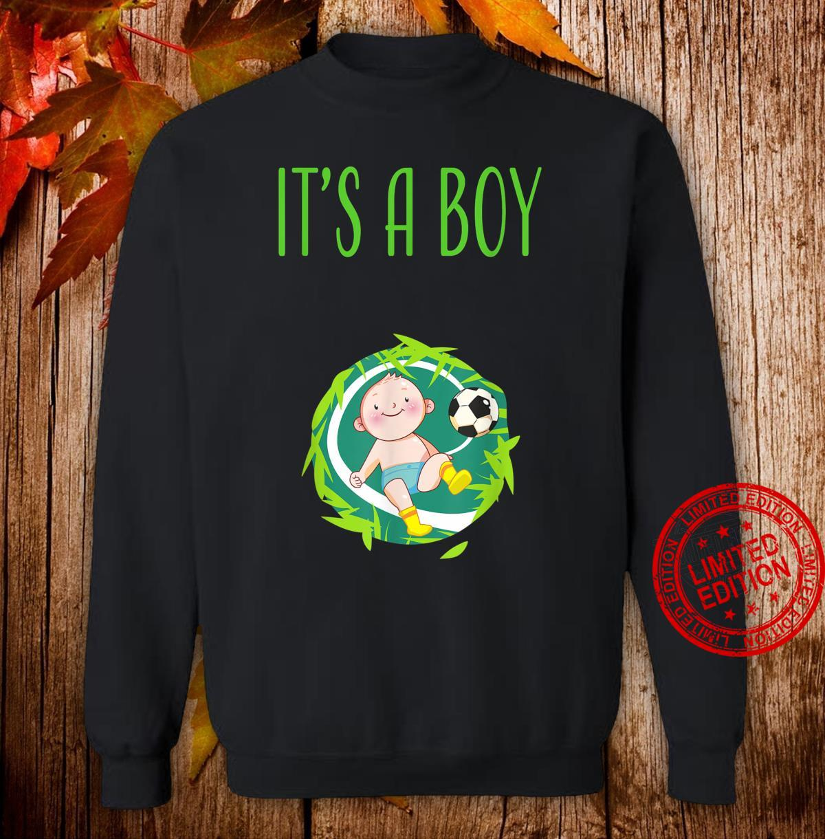 It's a Boy Team Boy Gender Reveal Baby Shower Shirt sweater