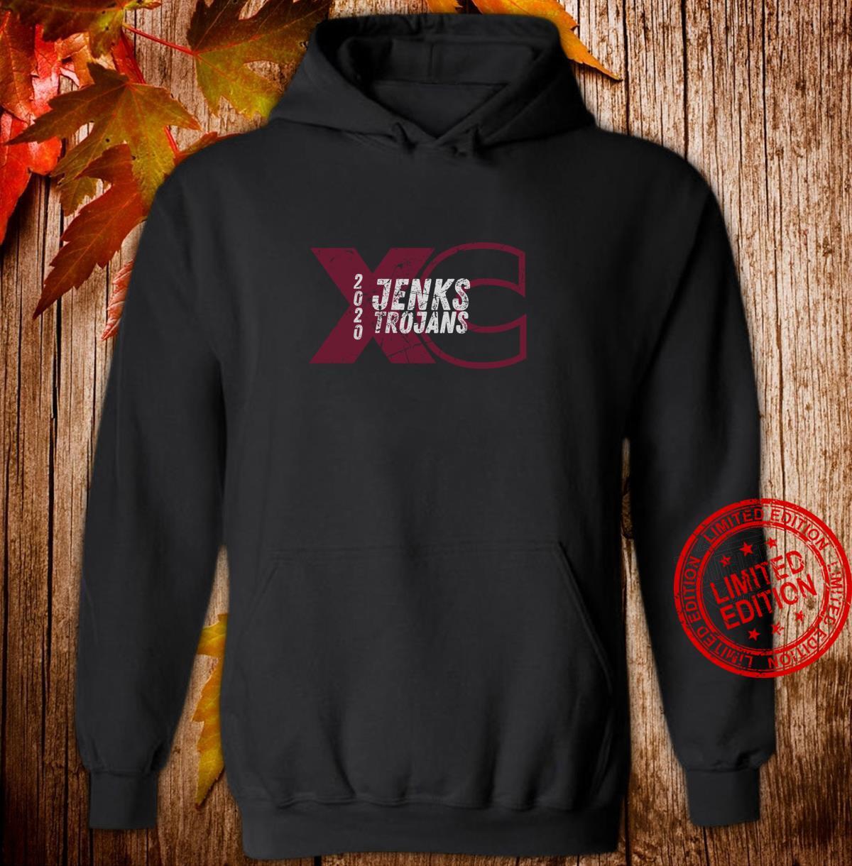 Jenks XC 2020 Cross Country Team Dark Shirt hoodie