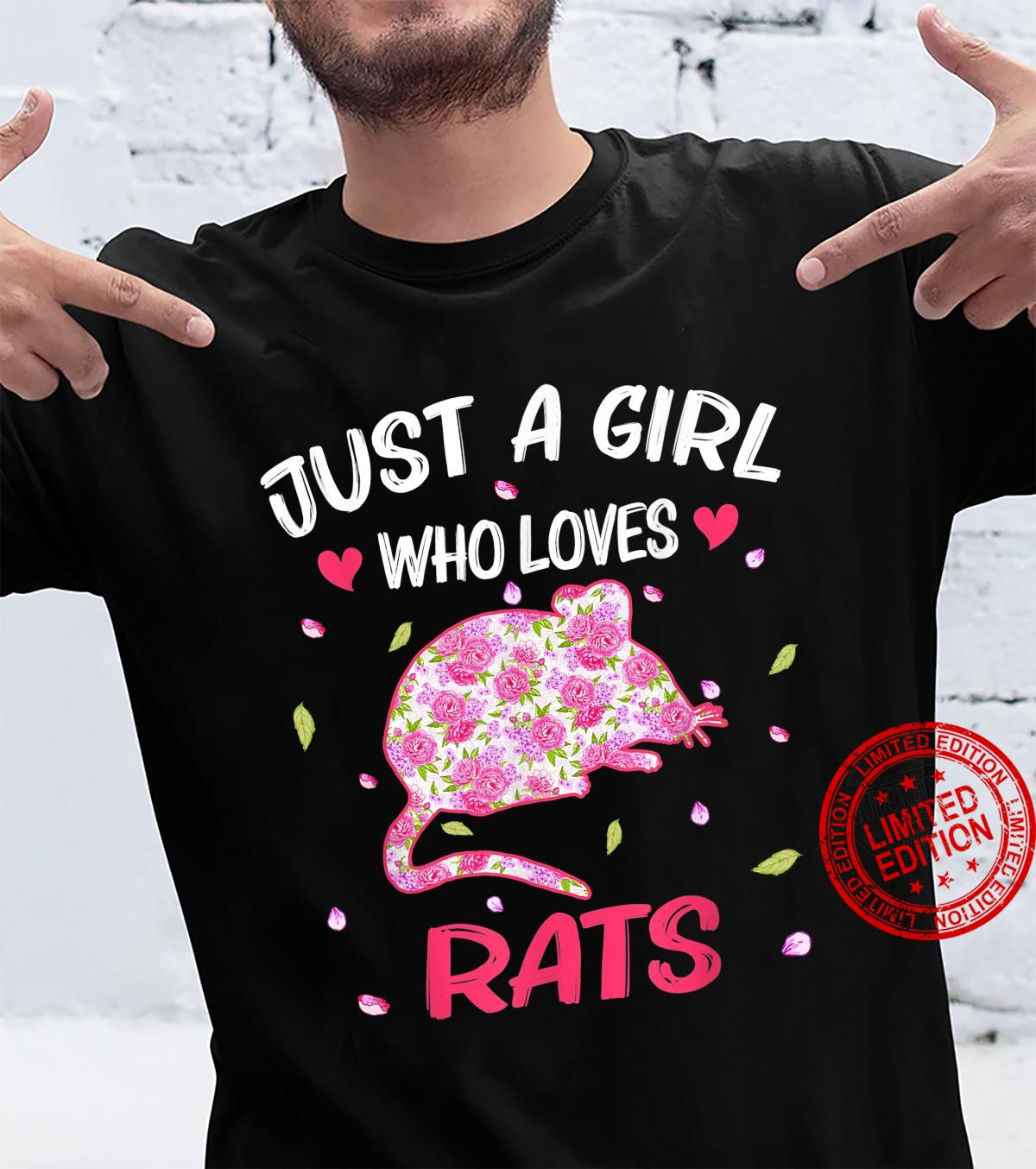 Just A Girl Who Loves Rat Flowers Animals Shirt