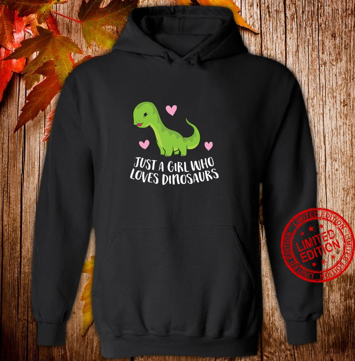 Just a Girl Who Loves Dinosaurs Cute Dinosaurs Girl Shirt hoodie