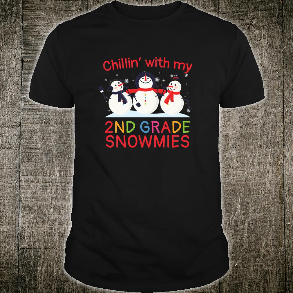 Kids Chillin' With My 2nd Grade Snowmies Christmas Holiday Fun Shirt