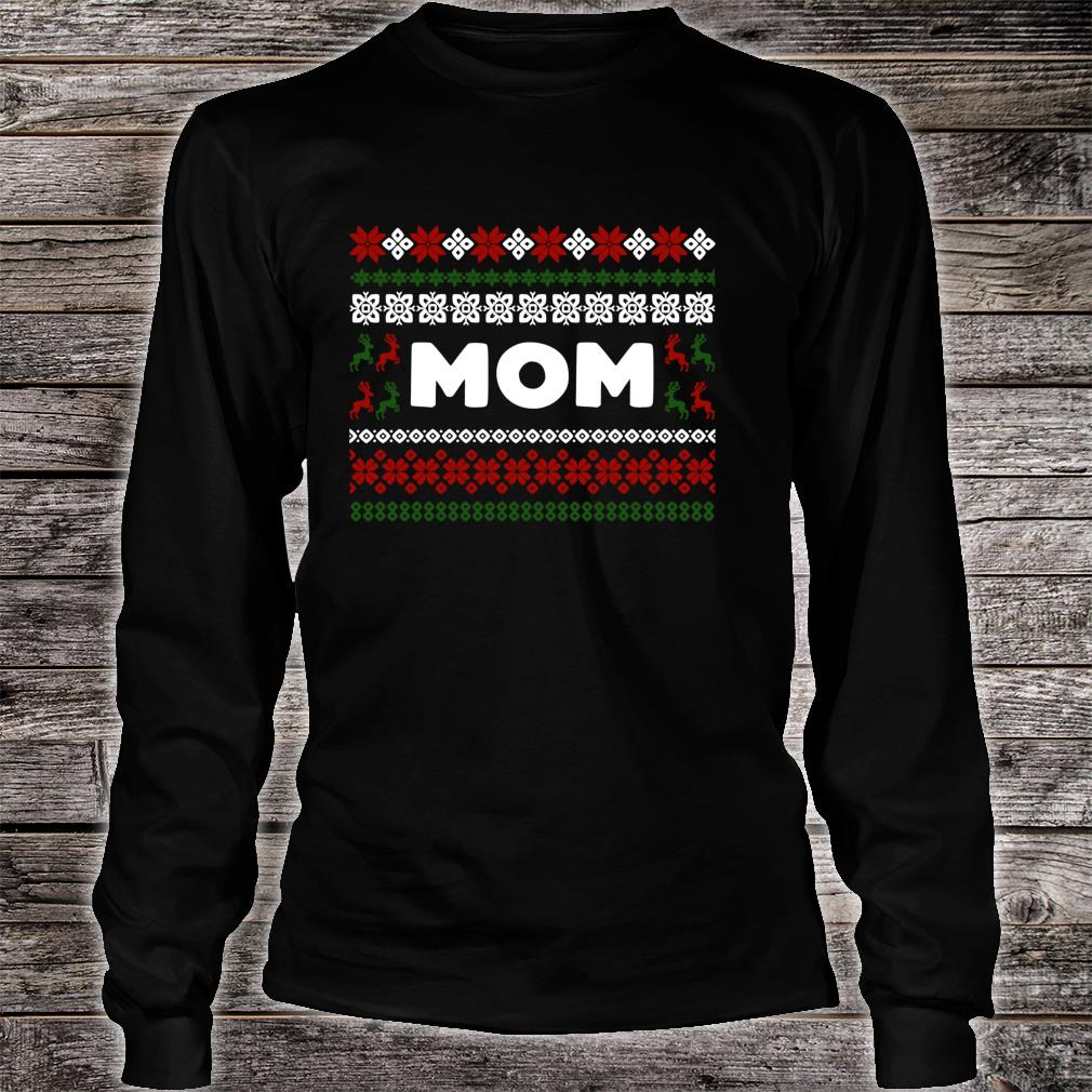 Knitted Matching Design for Mom Set for the entire family Shirt long sleeved