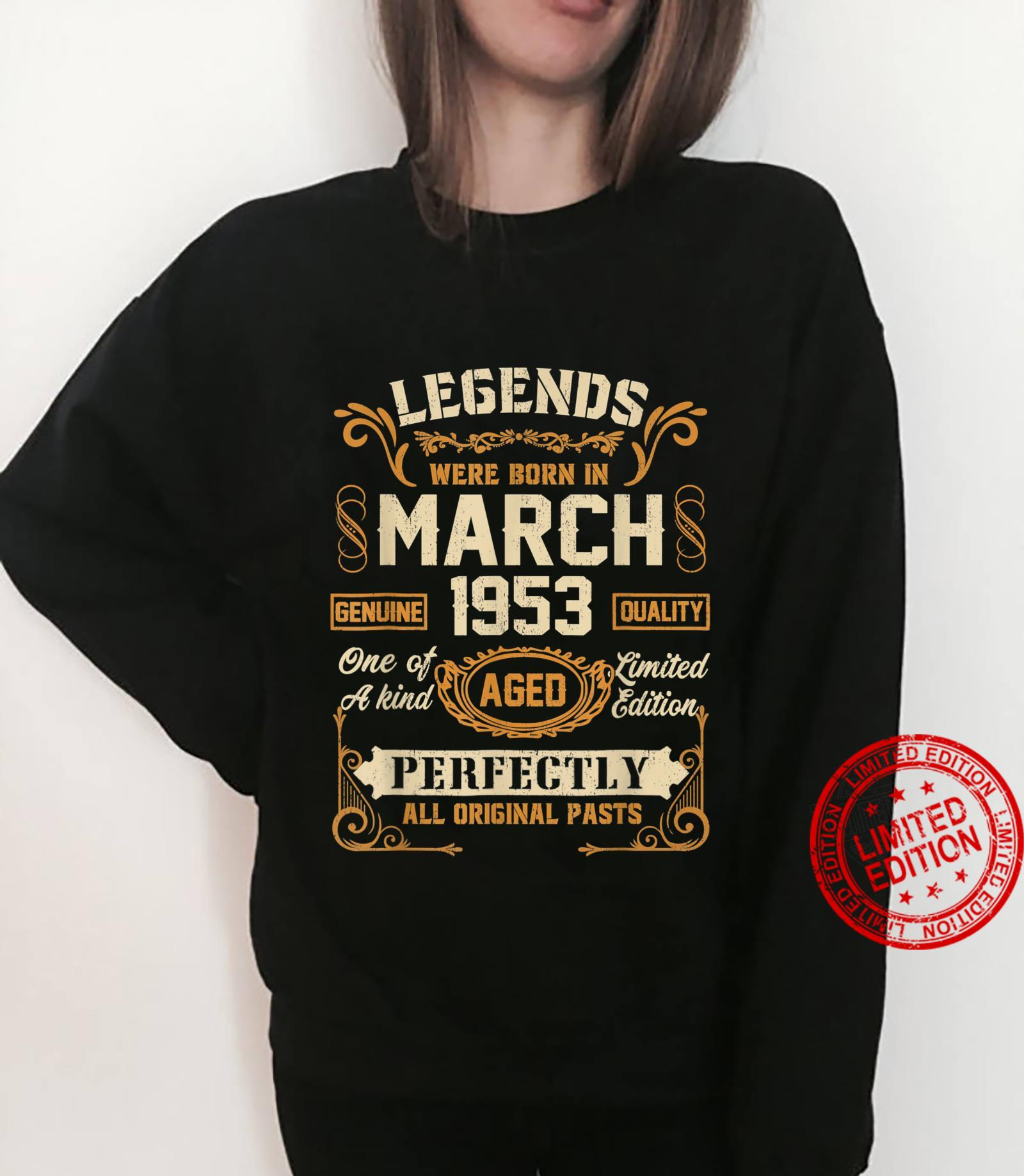 Legends Were Born In March 1953 68Th Birthday Shirt sweater