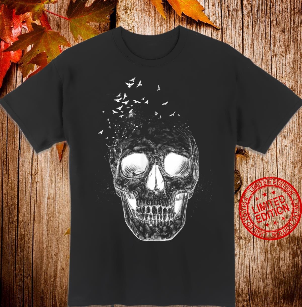 Let Them Fly Skull Birds Abstract Shirt