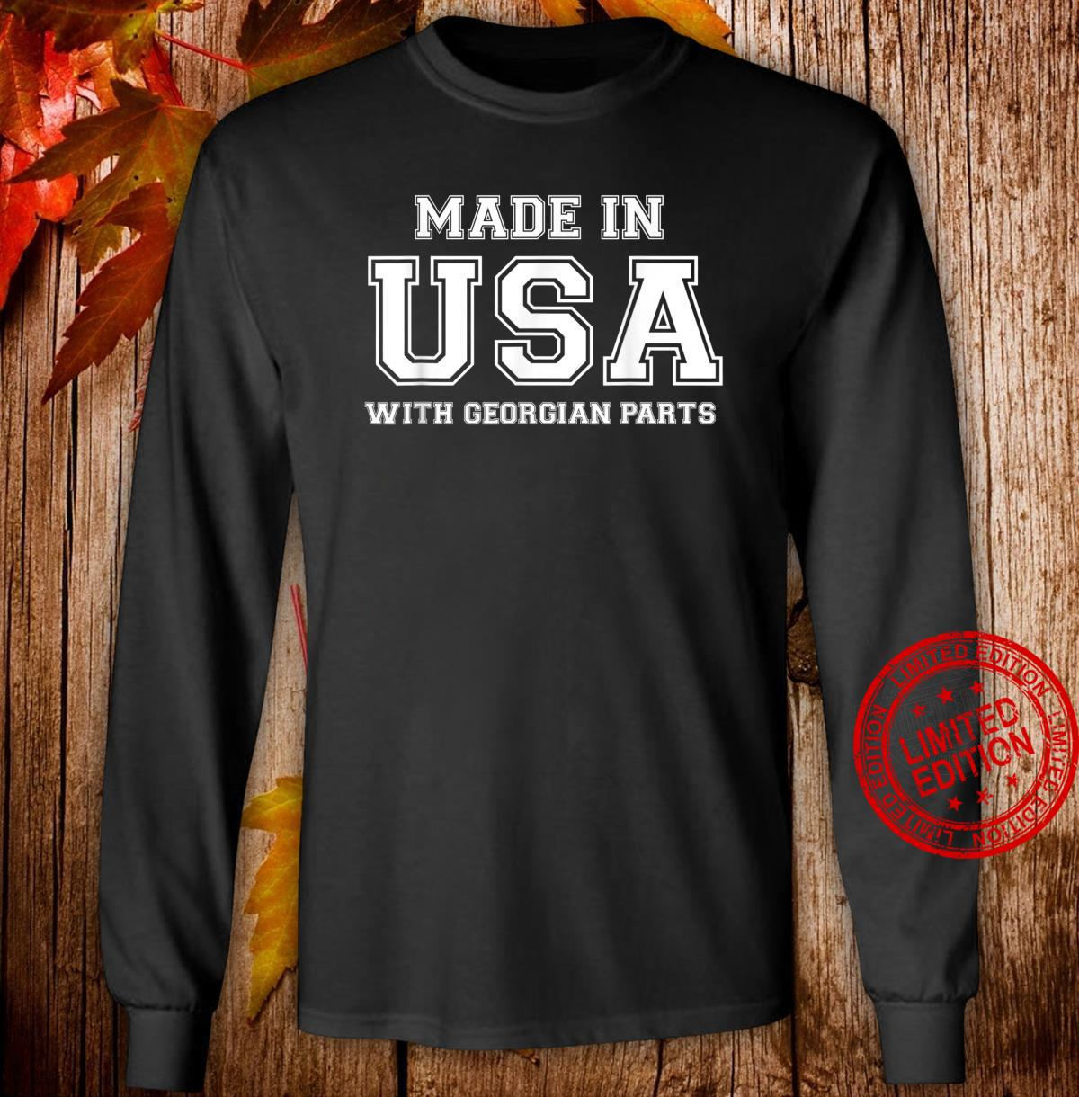 MADE IN USA WITH GEORGIAN PARTS Georgia American Shirt long sleeved