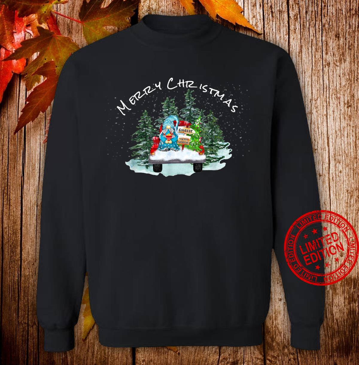 Merry Christmas Xmas Gnome Red Truck Pajamas PJ Tops Shirt sweater