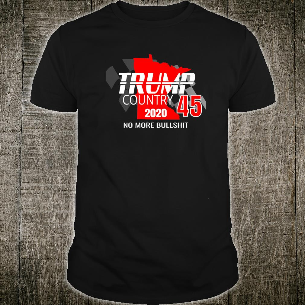 Minnesota For Trump Rally 2020 Turn MN Red Vote Trump 45 Shirt