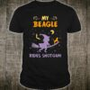 My Beagle Rides Shotgun Halloween Shirt