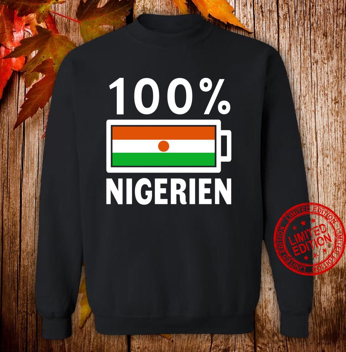 Niger Flag 100% Nigerien Battery Power Shirt sweater