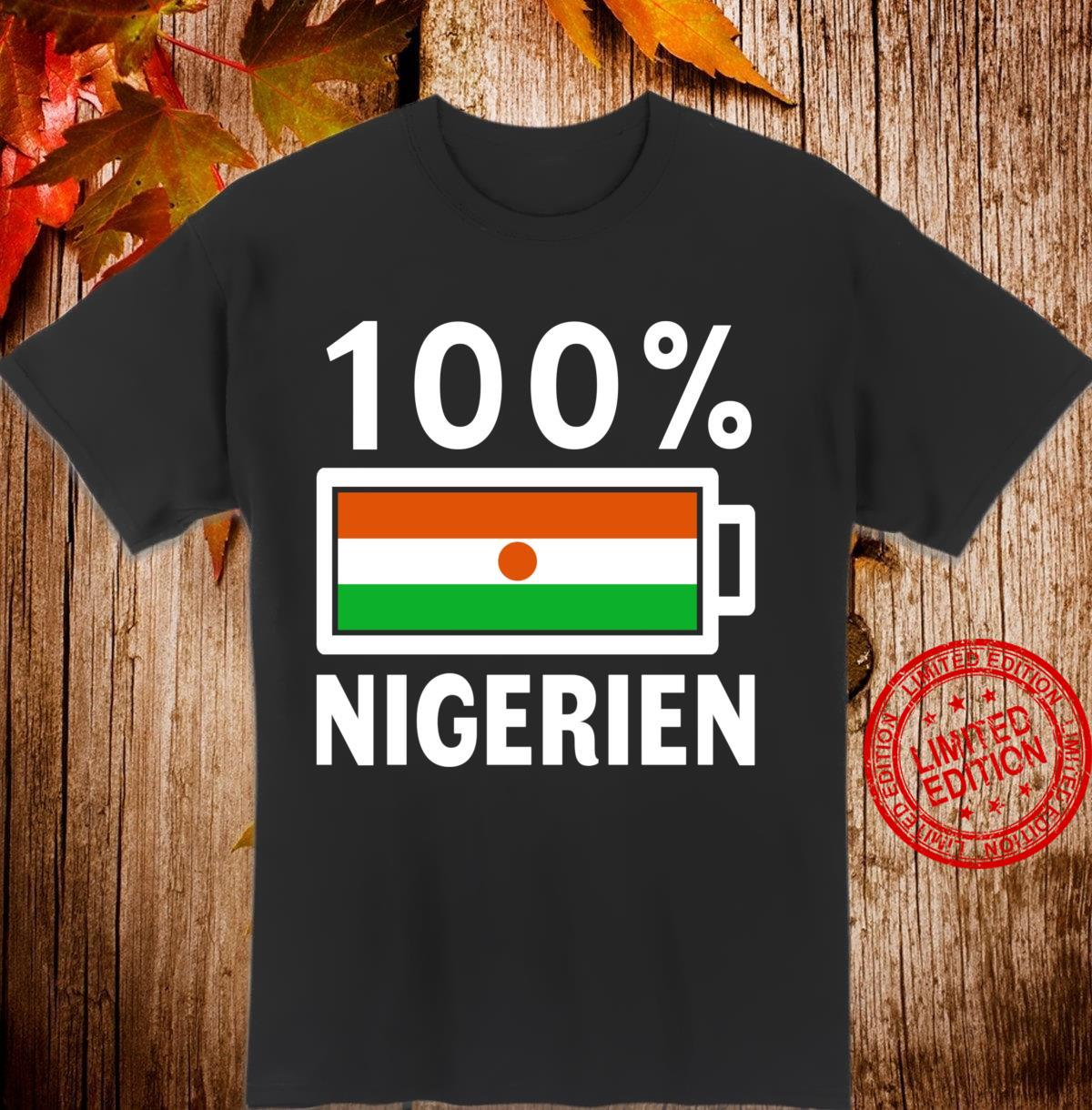 Niger Flag 100% Nigerien Battery Power Shirt