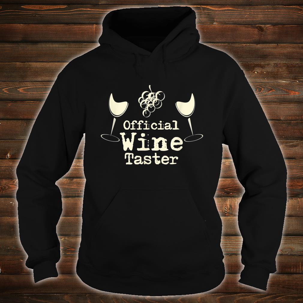 Official Wine Taster Halloween Costume Party Shirt hoodie