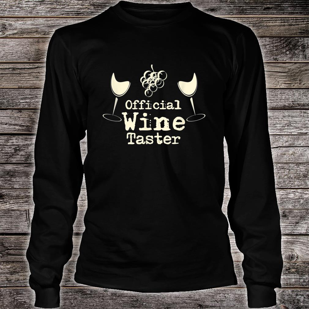 Official Wine Taster Halloween Costume Party Shirt Long sleeved