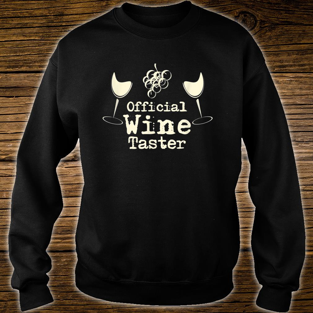 Official Wine Taster Halloween Costume Party Shirt sweater