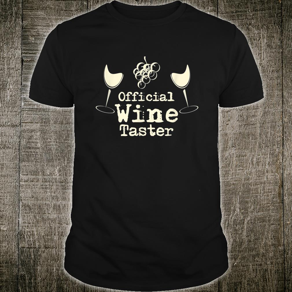 Official Wine Taster Halloween Costume Party Shirt