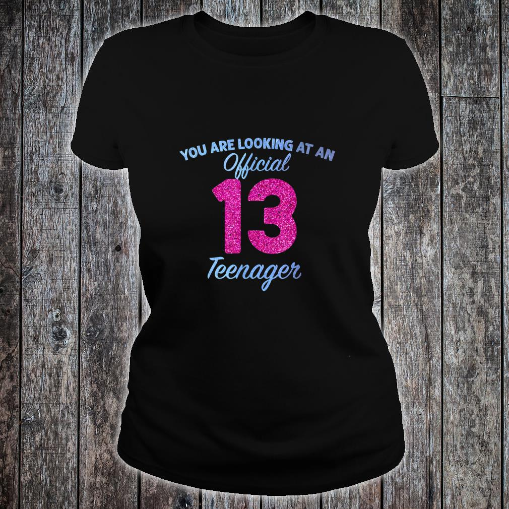Official nager 13 Years Old 13th birthday Boys Girl Shirt ladies tee