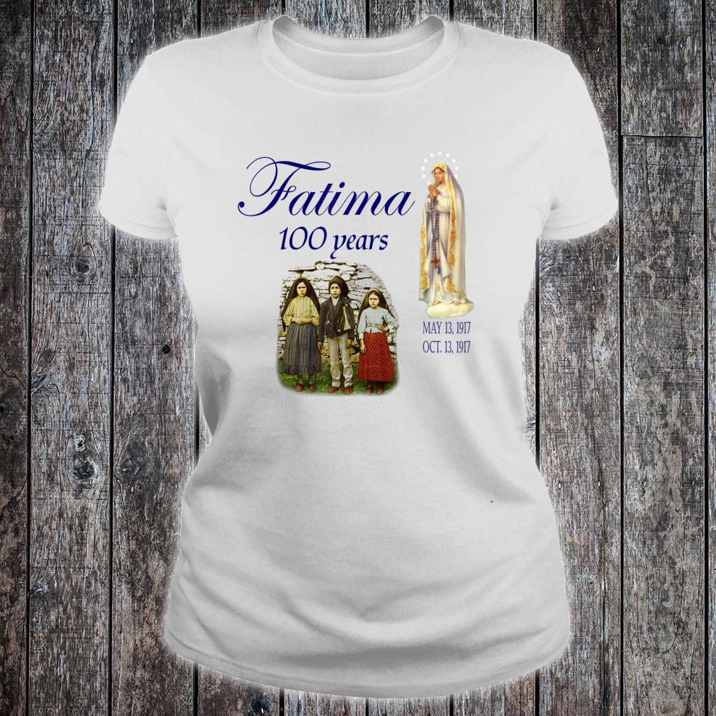 Our Lady of Fatima Anniversary Virgin Mary Shirt ladies tee