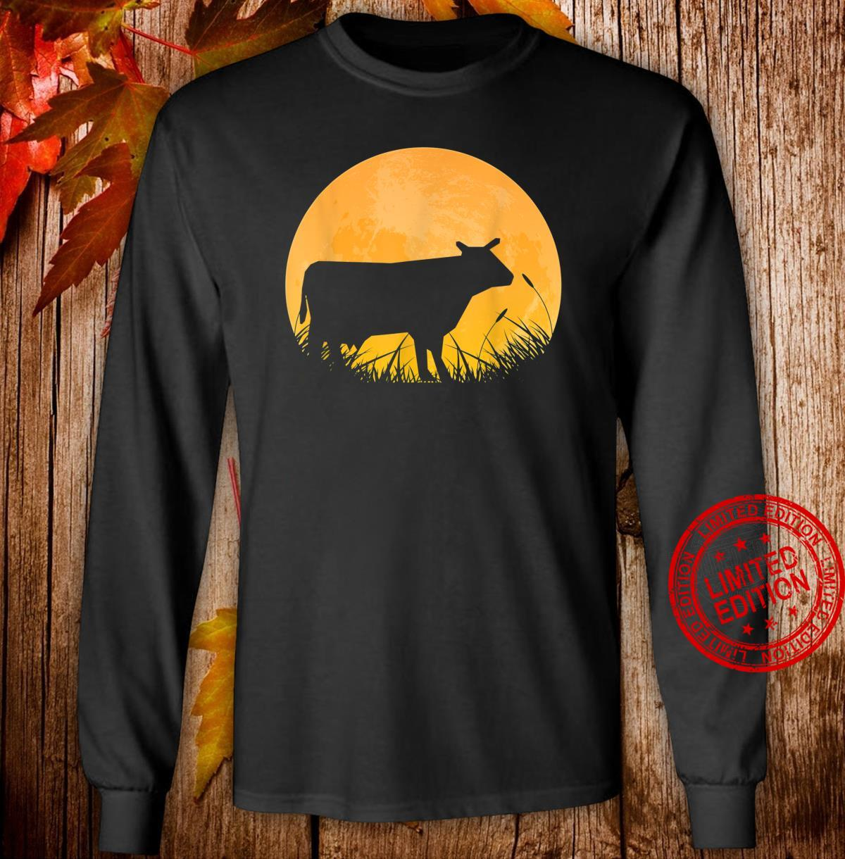 Ox Easy Halloween Outfit Cattle Oxen Moon Costume Shirt long sleeved